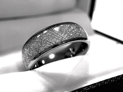 Meteorite Ring, Meteorite Jewelry, Mens Meteorite Ring, Women Meteorite Ring, Tungsten Wedding Bands, Matching Rings Set