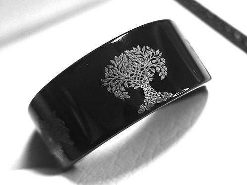 Tree of Life Pattern Engraved Celtic Ring, Tungsten Carbide Ring, Mens Women Ring