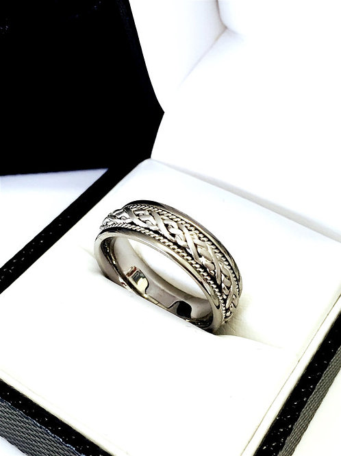 14k Gold Celtic Wedding Bands, Celtic Knot Ring, Irish Ring, His & Her Promise