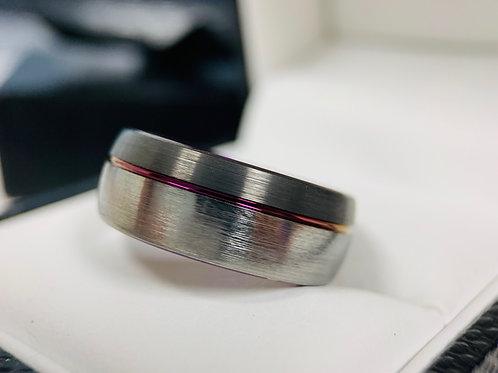 Mens Tungsten Ring, Gun Metal Purple Ring, Engagement Ring, Husband to be Ring