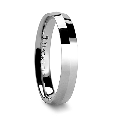 Knife Edge Tungsten Carbide Ring - 4mm & 8mm