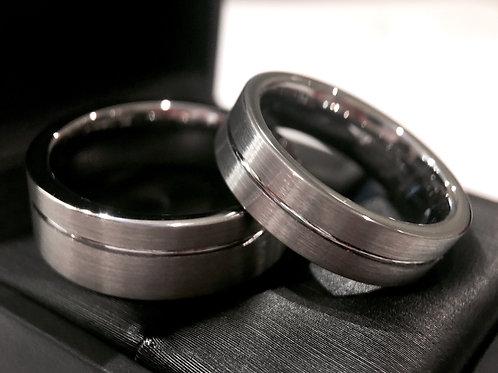 Gun Metal Tungsten Wedding Bands Set, Matching Ring, His Hers Promise Ring, Couples Wedding Band, Tungsten Wedding Band, Men
