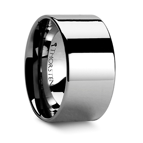 Pipe Cut Polished Finish Tungsten Carbide Band