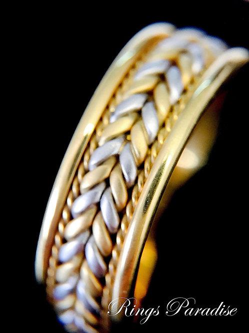 Celtic Jewelry, Unique 14k Gold Celtic Wedding