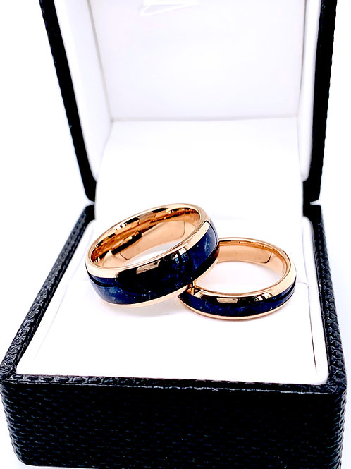 Blue Stone Ring, Mens Blue Ring, His and Hers Promise Ring, Matching Ring