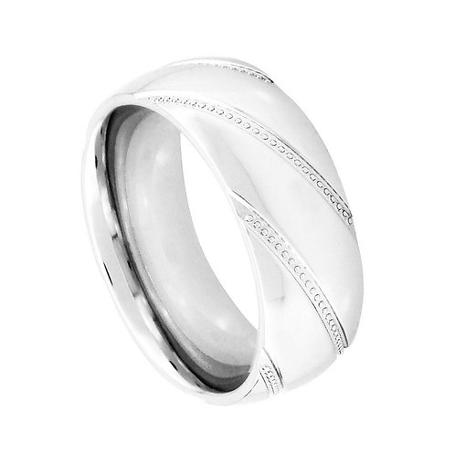 Cobalt Ring, Wedding Band  8mm