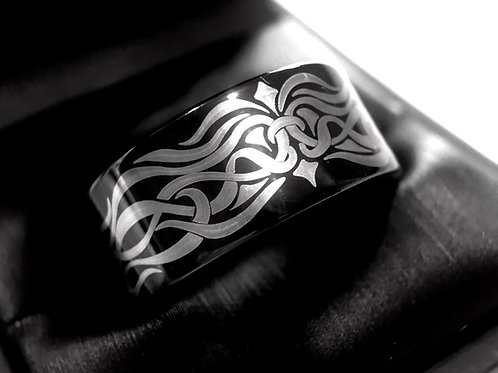 Knot Ring, Celtic Ring, Wedding Bands, Black Ring Celtic Jewelry, Rings Paradise, Mens Wedding Bands, Black Tungsten Ring
