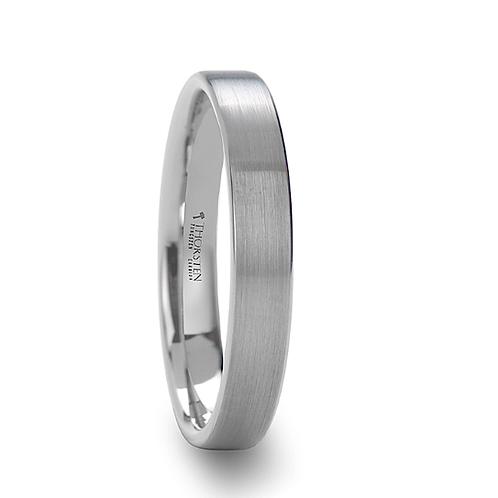 Tungsten Wedding  Ring, Brushed Finish 4mm