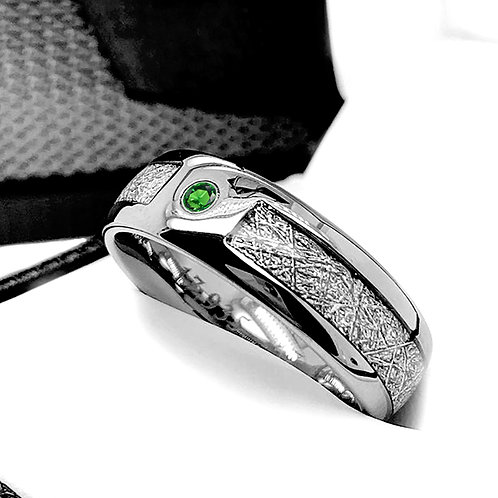 Meteorite ring, wedding ring, ring for women, his and her promise ring