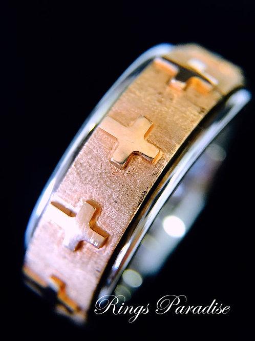 14k Rose Gold Celtic Ring, Celtic Wedding Band Set