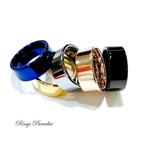 Flat Tungsten Wedding Bands, Mens Women Tungsten Rings