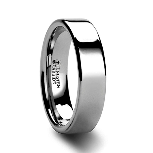 Tungsten Wedding Band, Engagement Ring 4 mm