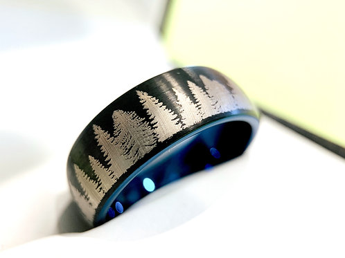 fir forest ring, mens ring , groom ring ,engagement, anniversary, weddingbs, promise ring nature ring mens fashion jewelry,