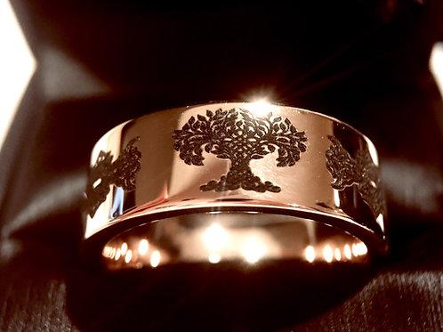 Rose Gold Celtic Ring, Tungsten Wedding Bands,Irish Ring, Tree of Life Ring