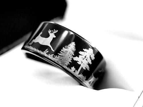 Black Tungsten ring, custom laser engraving, mens ring, mens wedding bands, mens tungsten wedding bands, engagement ring,