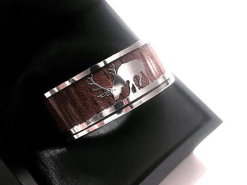 Antler ring, Deer Antler Wedding Bands, Mens Antler Ring, His Promise Ring, Mens Wedding Ring, Tungsten Ring, Rings Paradise