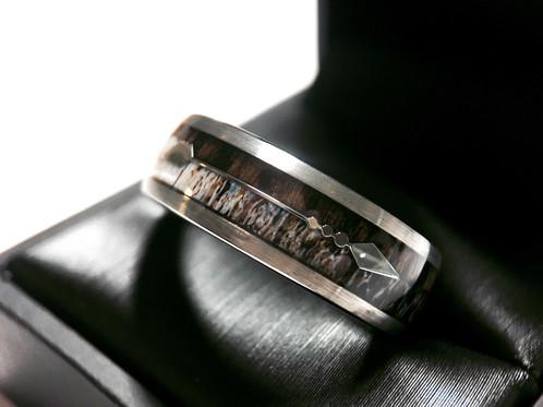 Antler Rings Wooden Ring Arrow Tungsten Wedding Bands Deer Ring