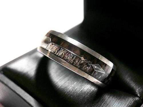 deer antler ring antler wedding band antler wedding rings deer antler wedding rings - Deer Antler Wedding Rings