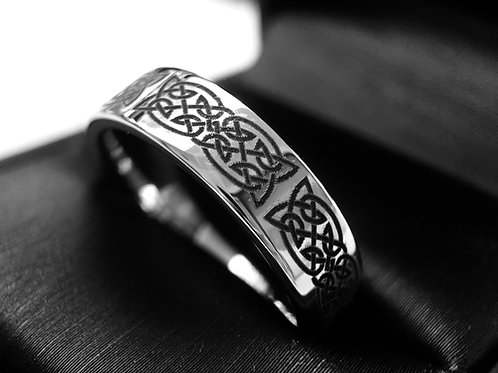 Celtic Ring, Tungsten Wedding Bands, Tungsten Ring, His and Her Promise