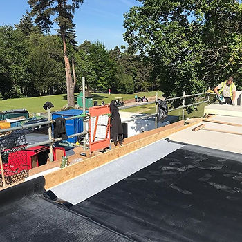 EPDM flat roof at foxhill golf club toda