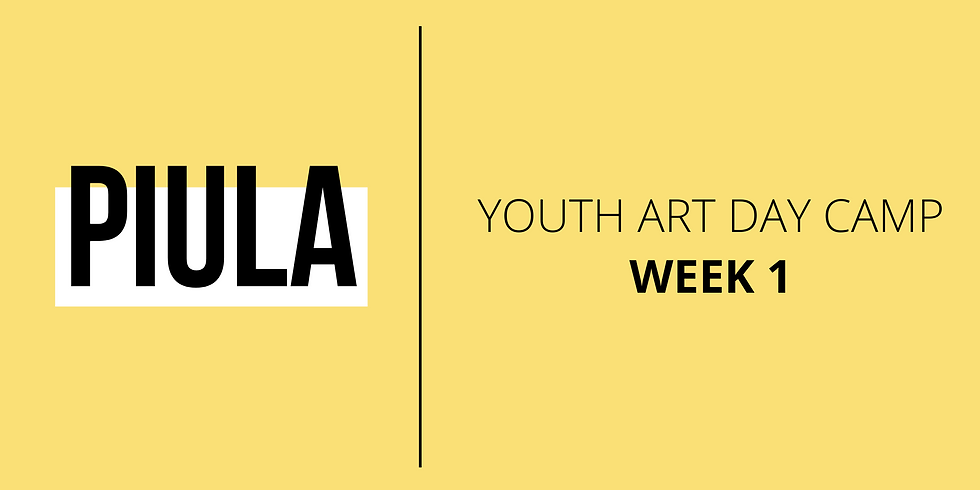 Youth Art Day Camp - 1 Week