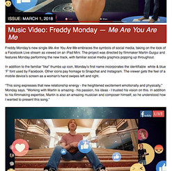 """Post Magazine - """"Me Are You Are Me"""" - Video Single"""