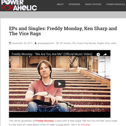 """Powerpopahaholic - New single from Freddy Monday - """"Me Are You Are Me"""""""