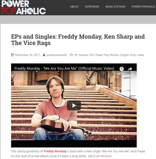 "Powerpopahaholic - New single from Freddy Monday - ""Me Are You Are Me"""