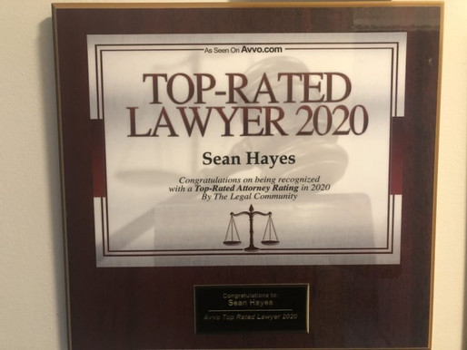 New York Lawyer Sean Hayes is Ranked a Top Attorney by Avvo for 2020