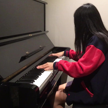 """A student playing """"Faded"""" by Alan Walker"""