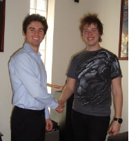 Congratulating Max Penno in getting accepted to study a Bachelor of Applied Music (Composition) at The Box Hill Institute.