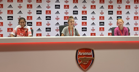 Girls at the Emirates Stadium