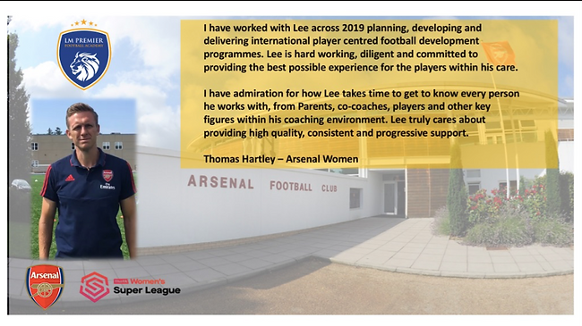 Thomas Hartley Testimonial