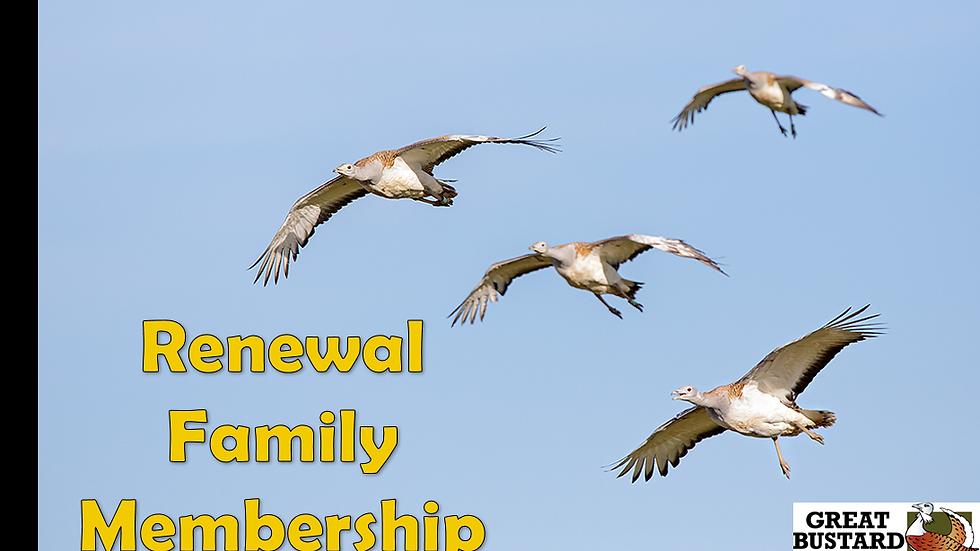 Annual Renewal Family Membership