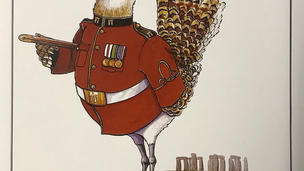 Colonel Great Bustard Card