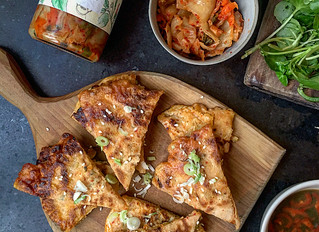 Spicy Savoury Kimchi Pancakes - Kimchi Buchimgae