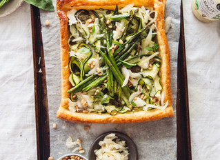 Goats Cheese & Greens Tart with Original Caraway Kraut