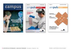 Redaktion und Titelfotos, Magazine der Hochschule Offenburg und der  Uniklinik Freiburg