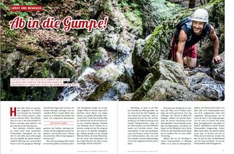 """Reise """"In die Gumpe"""", Hochschwarzwald-Magazin 2016"""