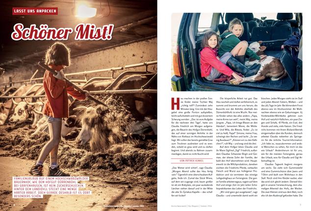 """Reportage """"Schöner Mist!"""", Hochschwarzwald Tourismus, 2016"""