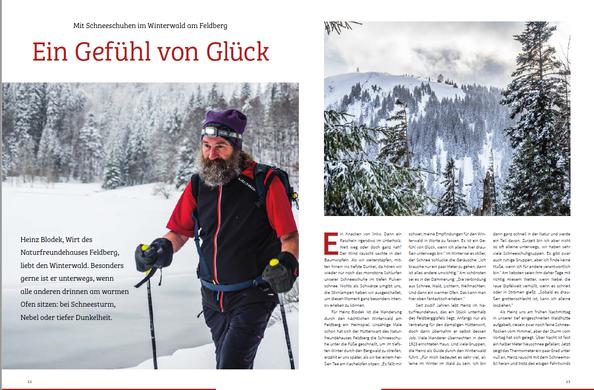 """Reise """"Ein Gefühl von Glück"""", Hochschwarzwald Magazin 2017"""