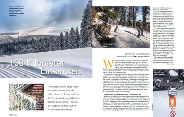 "Reise ""100 Kilometer Einsamkeit"", Berglust-Magazin2016"