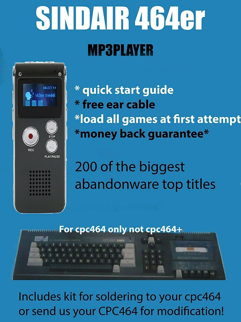 Modify your Amstrad CPC464er Mp3 Player for Amstrad CPC464 with 200 games