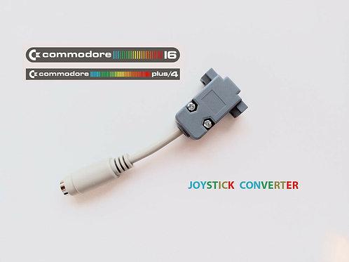 COMMODORE C16 / PLUS 4 / TO C64 / AMIGA JOYSTICK CONVERTER ADAPTER CABLE