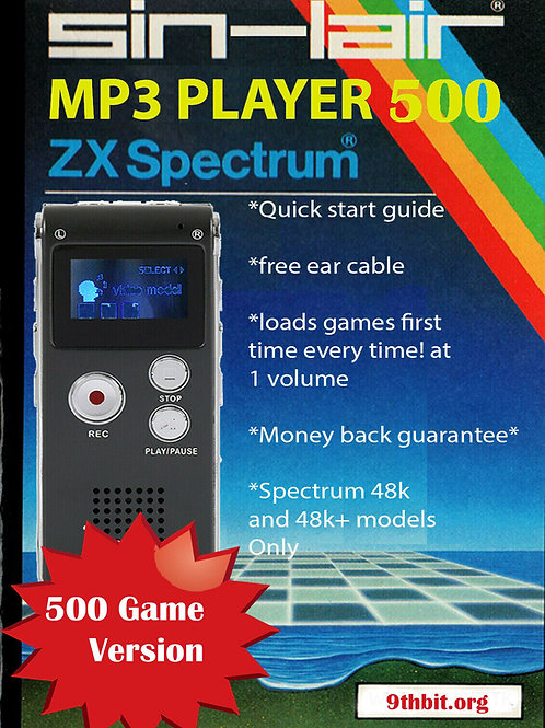 500 game Sindair ZX Mp3 Player for Sinclair ZX Spectrum with 250 games