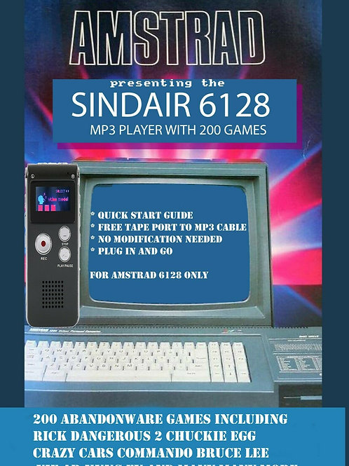 Amstrad CPC6128er Mp3 Player for Amstrad CPC464 with 200 games games