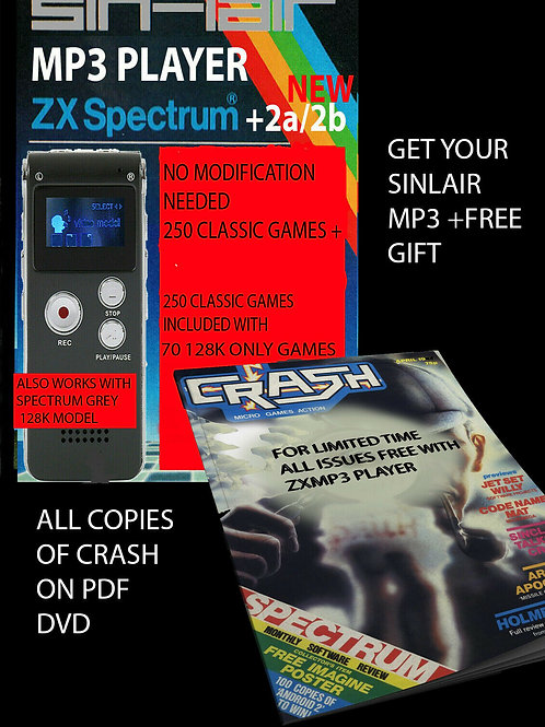 Mp3 Player for ZX Spectrum +2/+2A/2B 250 games inc.70x 128k games FREE CRASH PDF