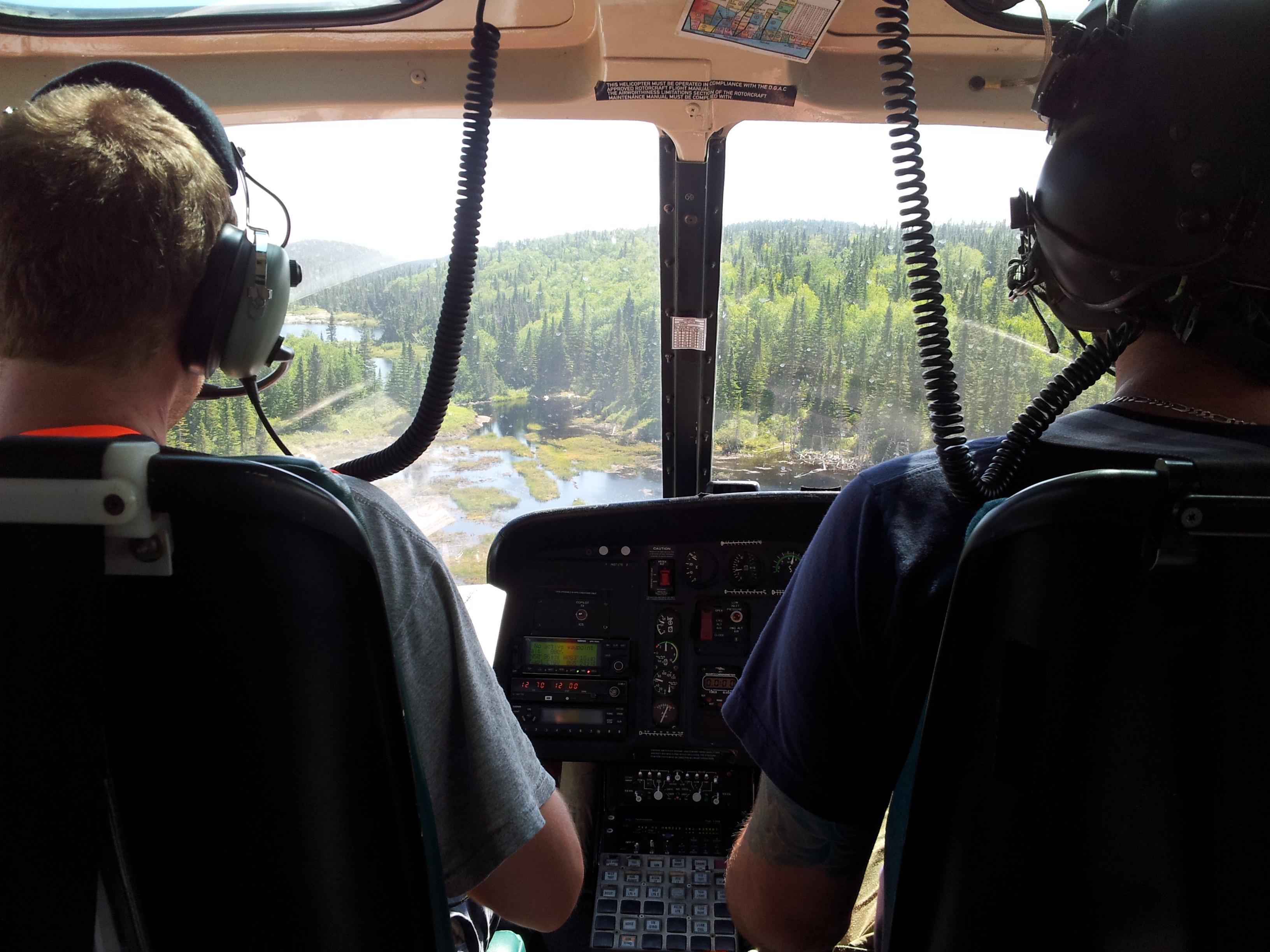 Épandage aérien en hélicoptère