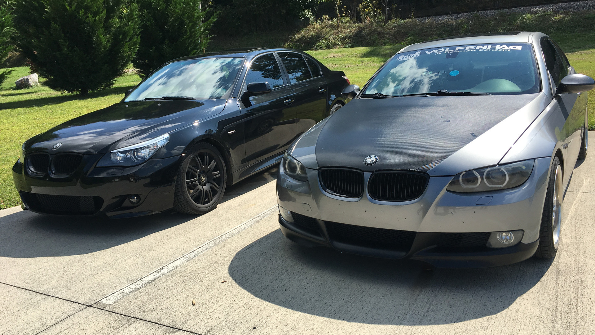 BMW 5 series and 3 series