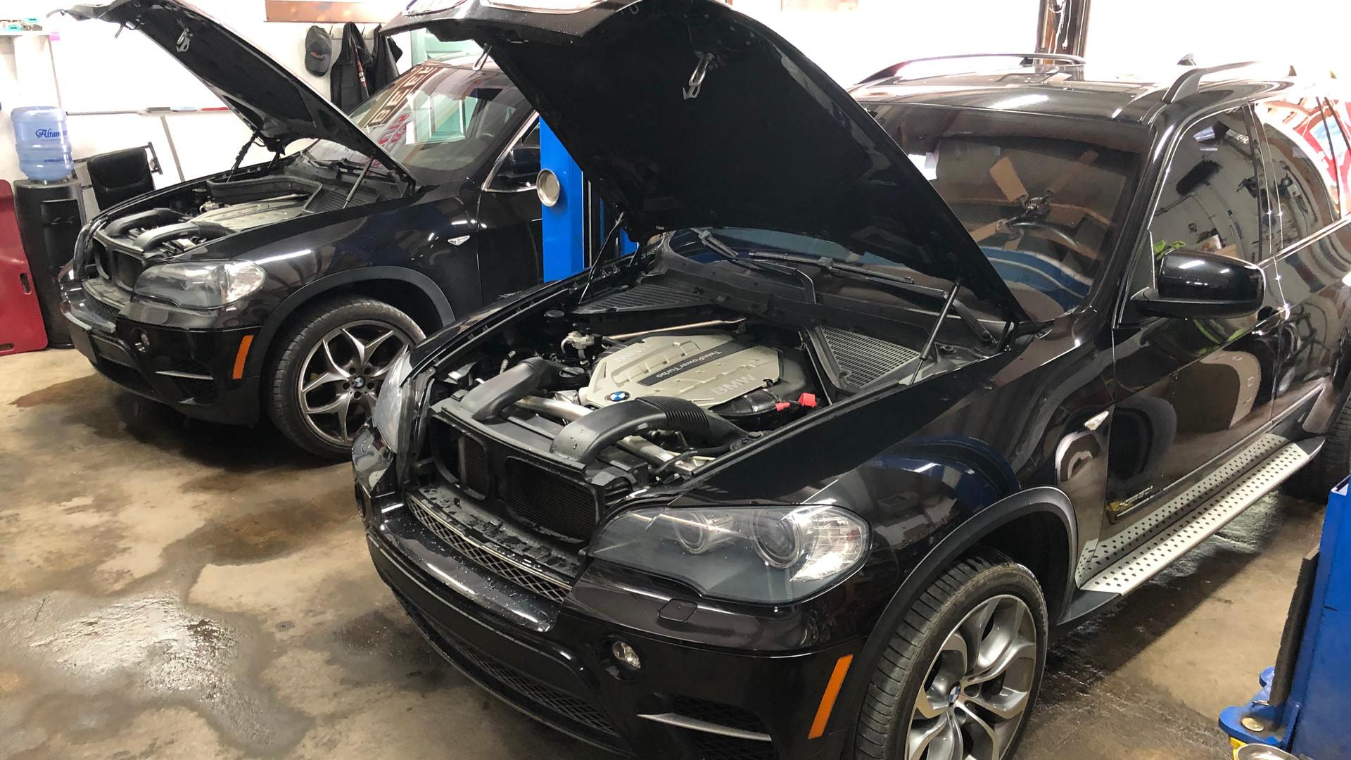 BMW X5 in Empire Automotive Repair shop